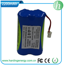 7.4V 2200mAh Fat Bike Frame Lithium ion Battery Pack
