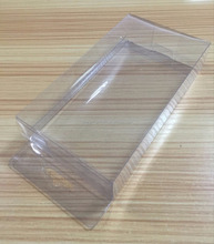 custom PVC clear plastic box/ flat folded