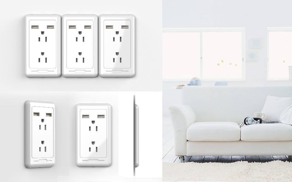 Upgrade Practical UV mateiral electrical wall sockets usb