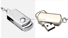 Stainless steel the rotating USB Metal USB 2.0 Flash Drive Portable Pen Drive file backup storage USB