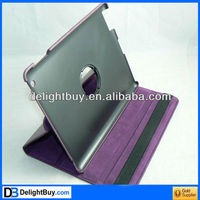 for APPLE IPAD 2 LEATHER CASE COVER W/STAND purple