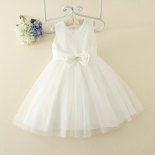 Princess frocks designs White wedding dress party clothing for girls
