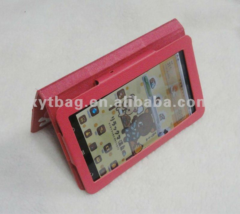 2012 latest new high quality real leather 7 inch tablet case