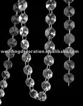 Clear Glass Crystal Garland Strand , Wedding crystal garland