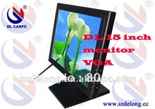 "Factory Price 15"" Inch VGA TFT LCD Touch Screen Monitor With POS Base"