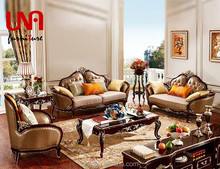 Arabic royal recliner sofa set wooden wedding furniture sectional sofa leather and fabric sofa