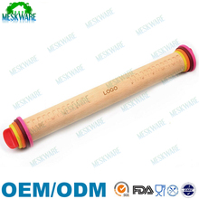 Best quality removable rings wood ajustable rolling pin, beech rolling pin