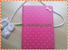 hot sale Bling Diamante pu Leather Case for iPad 5