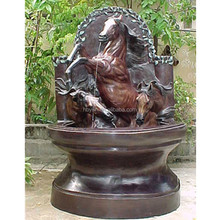 Horse head decoration bronze wall fountain