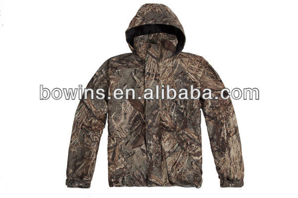 mens polyester fleece windbreak camouflage jacket