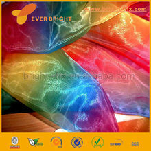 China Factory cheap price Embroidered organza fabric,cheap organza fabric roll ,flower wrapping cheap rainbow organza fabric