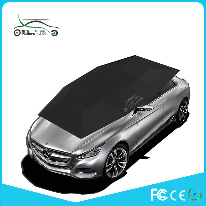 Hail and sun protection automatic car covers with suction cups