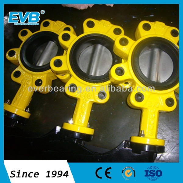 Wafer butterfly valve with pin handle