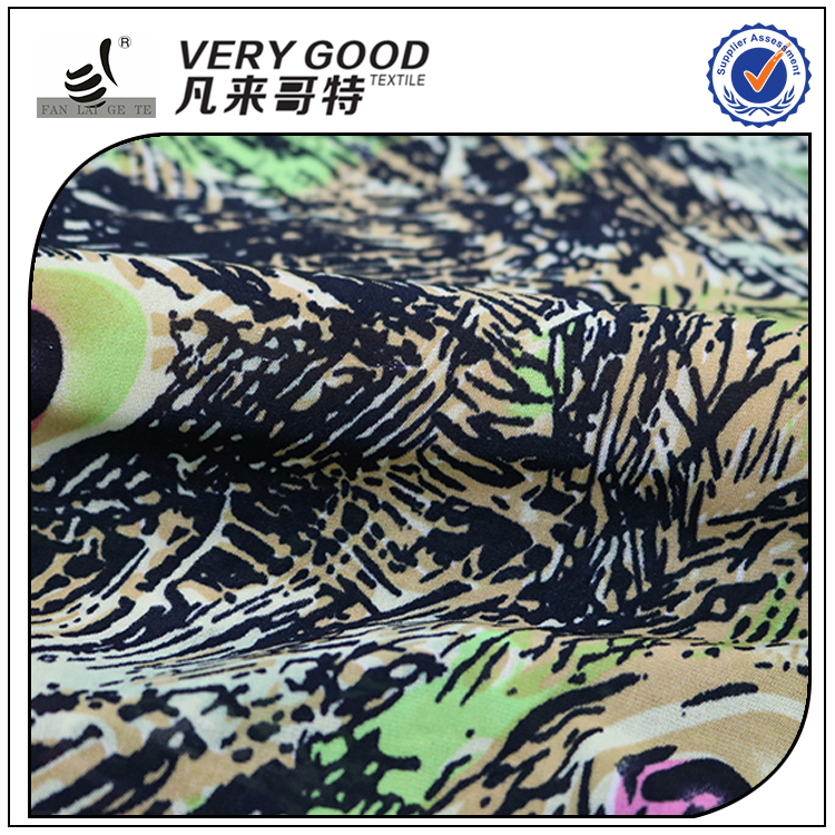 best quality FDY printing knitted jersey fabric