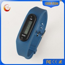 Fitness count step and time pedometer watch/step counter watch/pedometer and calorie counter watch