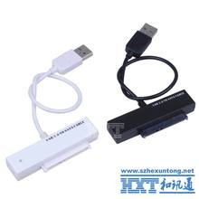 USB 2.0 to SATA 15 + 7 Pin Adapter Cable for 2.5 Inch HDD Hard Drive Laptop