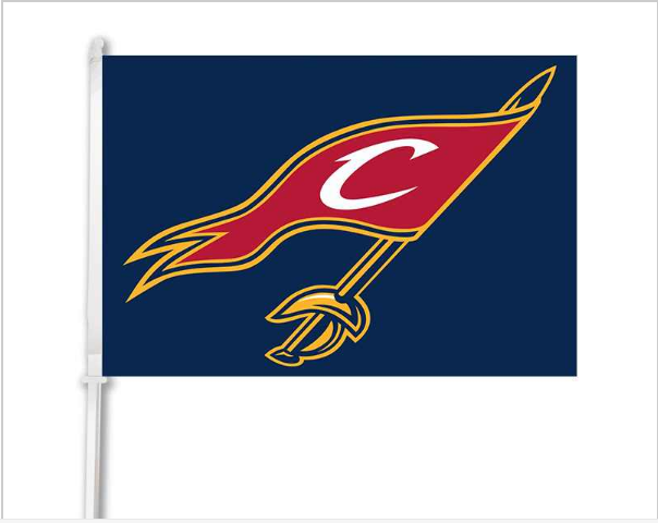 "Cleveland Cavaliers car window flag double sided digital print with 50cm pole- 12""x18"""