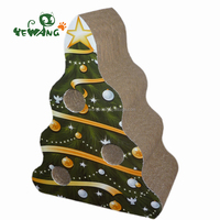 The Chirstmas Gift of corrugated cardboard cat scratcher for cat have fun