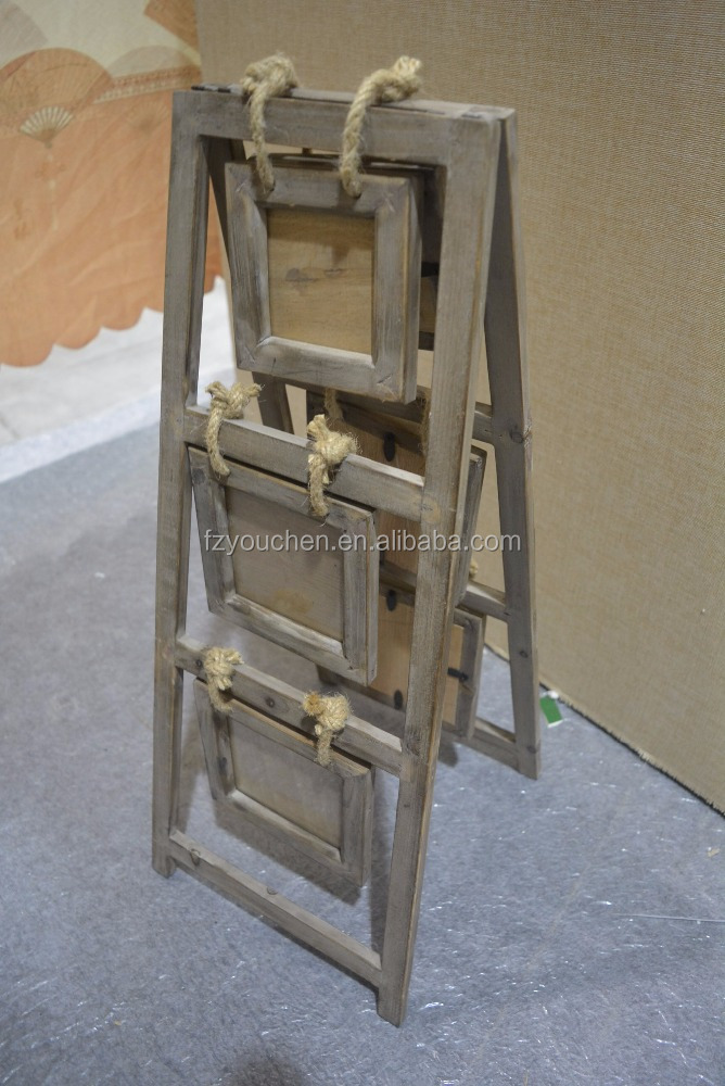 Layered Standing Vintage Wooden Picture Frame