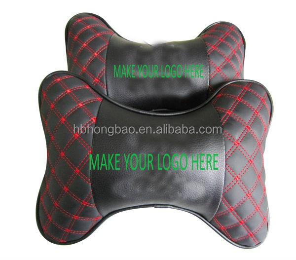 2016 hot sell pu car neck pillow black