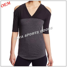 Custom classic sports athletic clothing dry fit women fitness sportwear t shirt