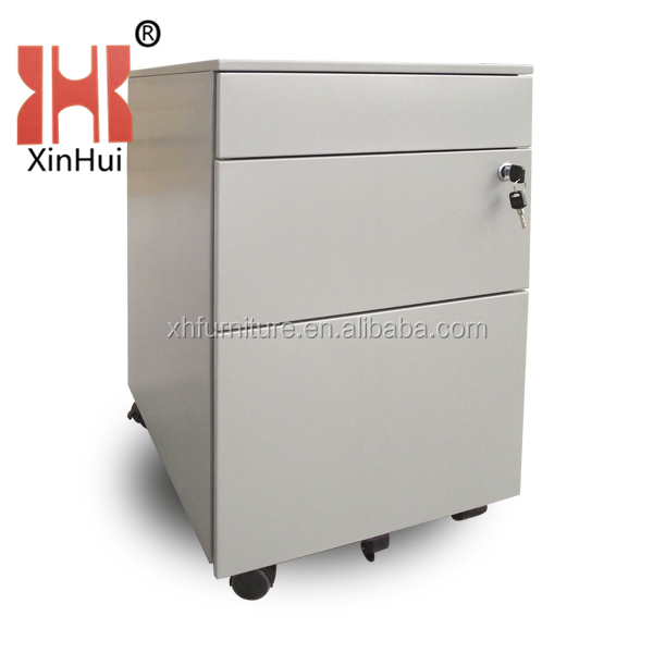 small stainless mobile cabinet ,with 3 drawers ,hot sale for office,school,home,factory and so on