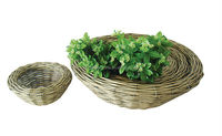 wicker flower pot,garden pot,outdoor plant
