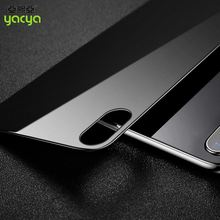 for iPhone X Mirror tempered glass front+back screen protector for iPhone 10
