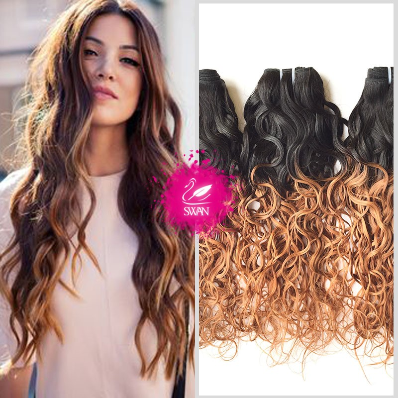 alibaba express buy human hair online two tone color water wave hair weave