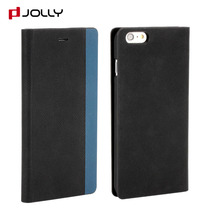 Fashion Handmade Carbon Fiber Leather Phone Wallet Case Cover For iphone 6