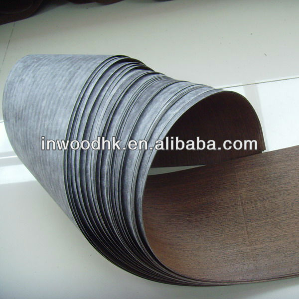 Natural Wenge Veneer with Fleece Paper for Furniture
