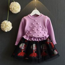 Girl Cotton Frock Design Solid Color Princess Girl Dress Girls Kids Party Dresses