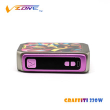 Shenzhen e-cig best electronic cigarette brand 100% authentic Vzone item Graffiti 220w ecig cartridge dab