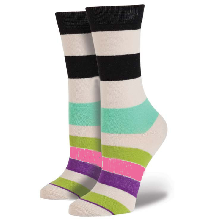 Wholesale Custom Design Crew Length Woman Cotton Sock