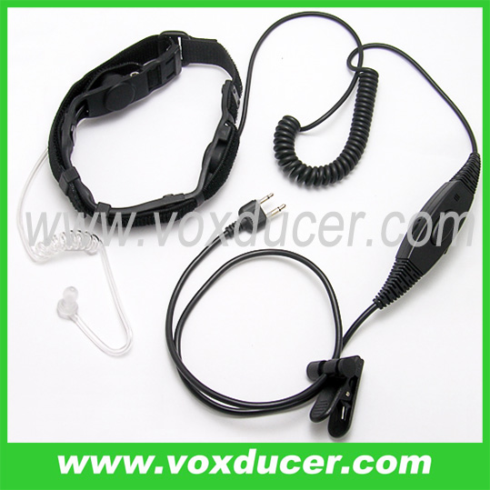 for Two Way Radio accessories/neckband earpiece/Throat vibration Mic with double sensors for Icom