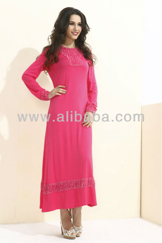 Long Sleeve Muslim Maxi Dress - FJ0010