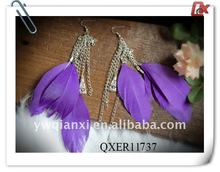 Fashion feather earrings for sale (QXER11737)