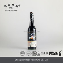 Chinese Naturally brewed Japanese soy sauce in glass bottle