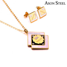 New Arrival 2018 American Style Famous Luxury Brand Imitation Jewelry Sets Earrings Coolman Accessories
