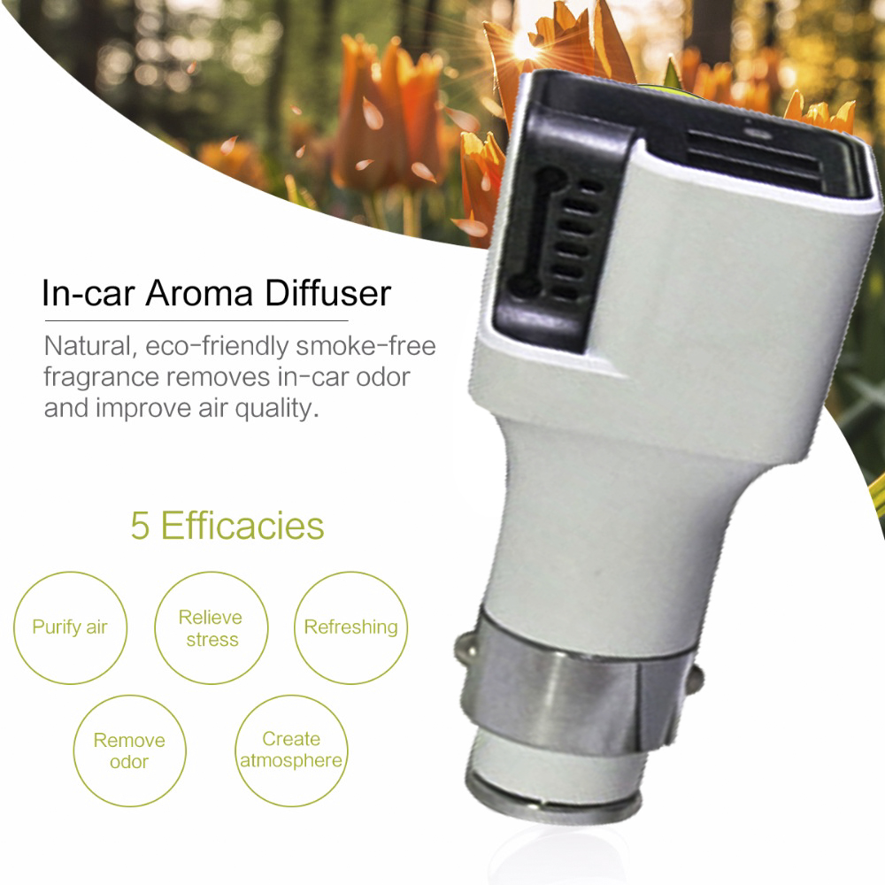 Portable wireless 4.8a dual micro usb car charger mini car ionizer air purifier from china