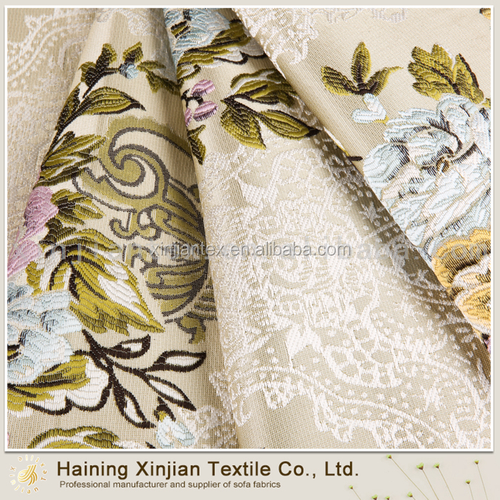 Comfortable customized knitted jacquard curtain fabric