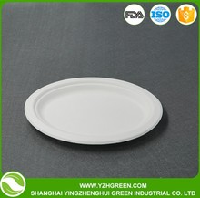 Disposable Cheap Price Sugar Cane Bagasse Paper Plate