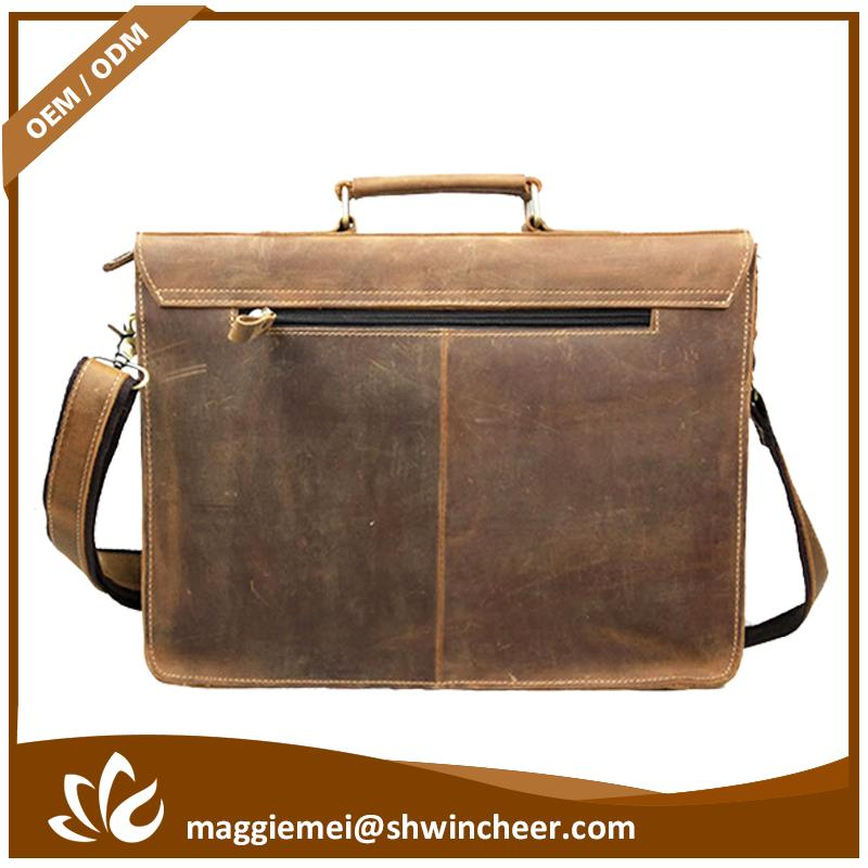 Cheap leather laptop, leather men shoulder bags, name brand laptop bags