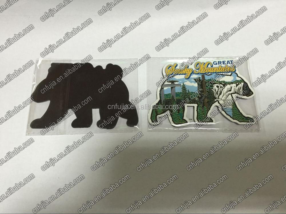 souvenir die cut special shape 3d metal postcard fridge magnet
