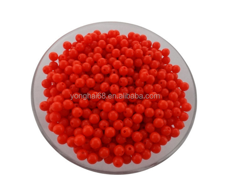 Hot Selling Environment Protect Round Colorful Acrylic Loose 6mm Beads DIY For Bracelet/Necklace Accessories