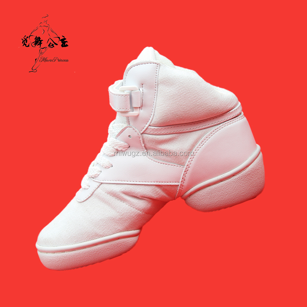 White Flexible Ballet Dance Shoes for Women