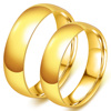 Hot Free Shipping Gold Stainless steel jewelry Couple Wedding Rings