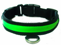 China manufactory dog shock collar , led belt for dog safety, dog collar with strong nylon strap