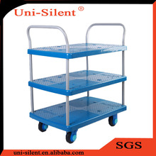 150kg Hand Push Library Book Trolley Cart PLA150-T3-D