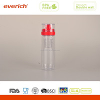 BPA free drinking plastic tritan sport water bottle infuser
